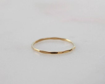 Textured 1mm Ring - 14K Gold Filled