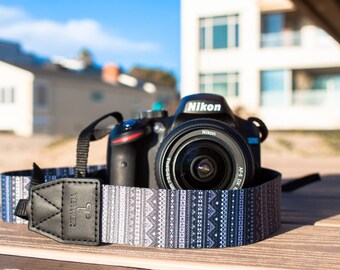 Camera Strap - Aztec design for DSLR or SLR camera, DSLR Camera Strap. Camera accessories. Canon camera strap. Nikon camera strap.