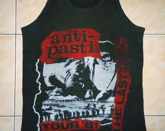 RARE VINTAGE ANTI pasti punk rock hardcore tour concert promo muscle t shirt