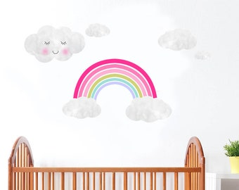 Rainbow wall decals/ Rainbow decor/ Rainbow decals/ Rainbow wall sticker/ Rainbow wall art/ Girls nursery decals