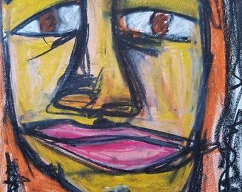 brown eyes original painting