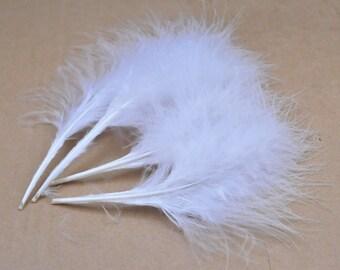 50PCS Turkey Feather,Terrific Turkey plumage, 4-6'' White Color Turkey Feather, craft feather, bulk wholesale lot.