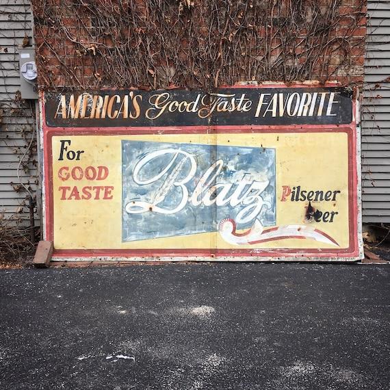 LARGE Hand Painted Blatz Beer Sign, Blatz Beer Milwaukee, Brewery Decor, Garage Sign, Breweriana