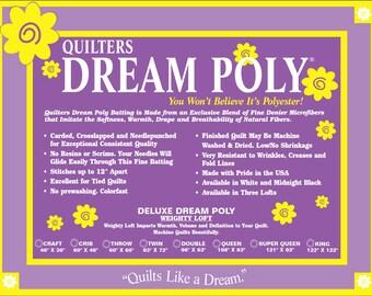 Quilter's Dream DELUXE WHITE Poly Batting Sampler Case