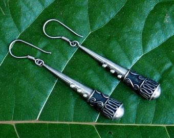 Vintge Balinese Sterling Earrings