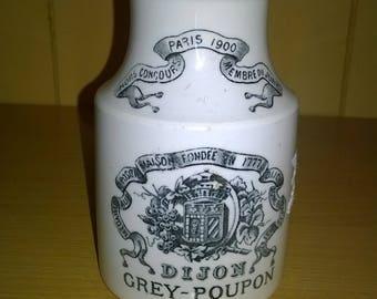 grey dijon mustard pot