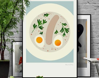 Cream Soup. Original illustration art poster giclée print signed by Paweł Jońca.