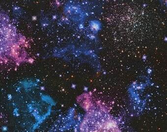 Nightfall - Robert Kaufman - Sea Urchin - SRK-17470-231 NIGHTFALL - Sky Fabric - Night Sky Fabric - Stars