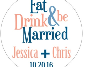 48 - 2.25 inch Personalized Glossy Wedding Stickers Labels - hundreds designs to choose from - change designs to any color or wording WR-053