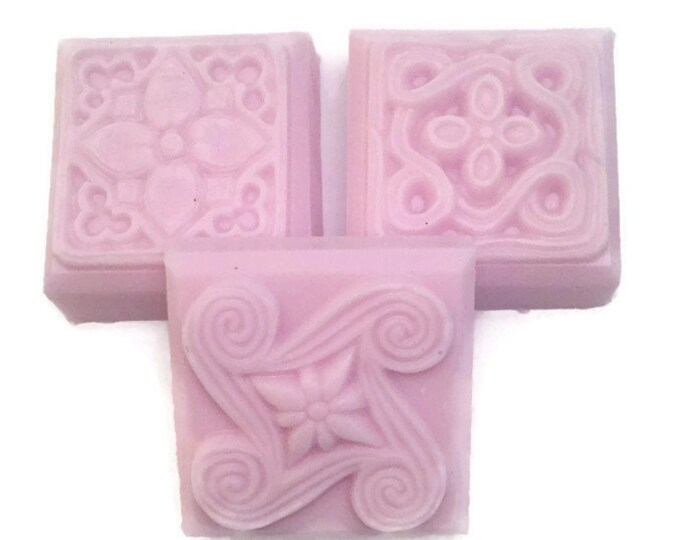 Handmade Soap, Shea Butter Soap, Lavender Scented Soap, Decorative Soap Bars, Scented Soap Bars, Soap Favors, Pink Soap