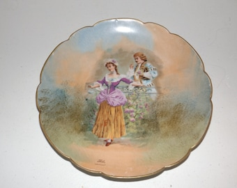 Antique   Limoges L.R.L. Decorative  Plate FRANCE