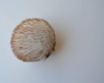 SALE Toasted Marshmallow Faux Fur Pom Pom