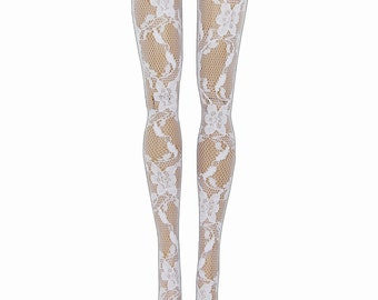 Blythe Doll Stockings - White Lace - Doll Clothes