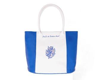 Stylish designer leather tote bag