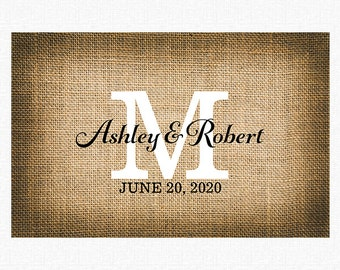 """Rustic Wedding Paper Placemats 