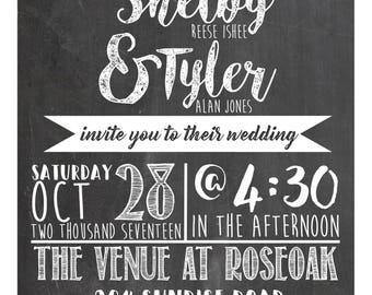 Chalboard Wedding invite