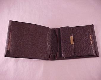 Split Buffalo Leather Billfold Wallet