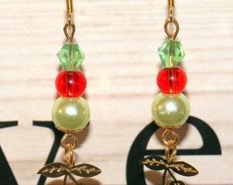 """Pair of earrings fantasy girl """"Cerisettes"""""""