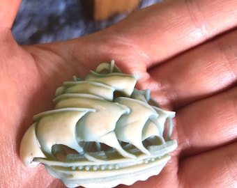 Vintage brooch clipper ship retro Art Deco
