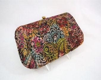 Vintage 1960s Bobbie Jerome brocade evening bag clutch handbag
