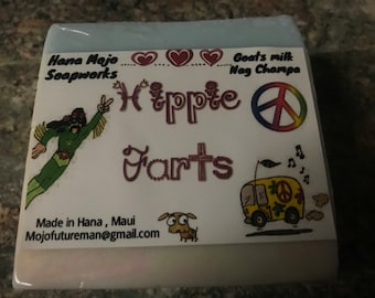 Hippie Farts .. Handmade Goats Milk Soap .. With Nag Champa