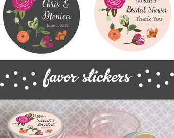 Personalized Mason Jar Stickers - Wedding Favor Labels - Personalized Mason Jar Tags - Personalized Wedding Sticker (EB4007MP-MP) 24| LABELS