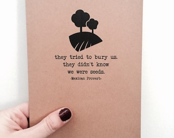 Mexican Proverb Quote Card
