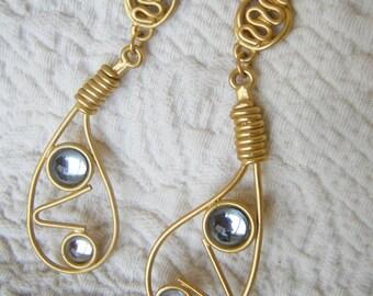 Vintage Eighties Abstract Earrings