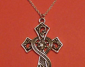 Cross Heart Necklace