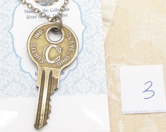 Long Vintage Key Necklace with Your Choice of a Curtis Housekey