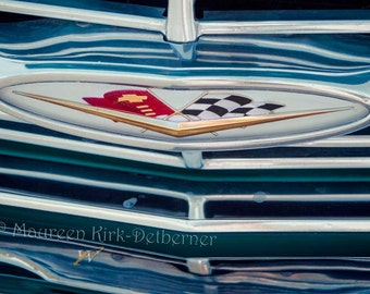 Chevy impala Chevrolet  photo blue Impala Fathers Day gifts for men old car photography garage wall art husband gift boyfriend gifts