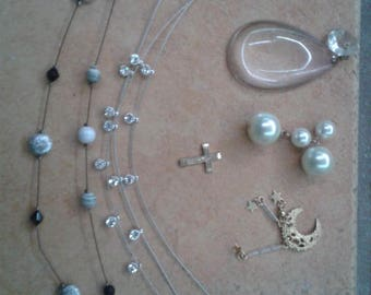 Broken Necklaces lot - 6 pcs - craft/jewelry