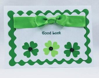 Saint Patricks Day Greeting card. Handmade St. Pattys day Greeting card. Good Luck