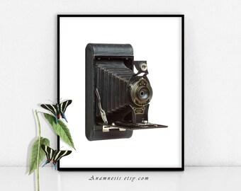 PLIAGE de l'image de la caméra - téléchargement numérique - appareil photo vintage imprimable par totes anamnèse - transfert de l'image -, estampes, oreillers, vêtements