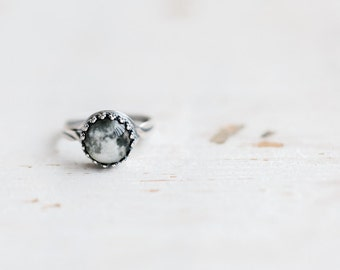 Full Moon ring, Mothers day gift, Silver ring, Full Moon jewelry, Space ring, Adjustable ring, Planet ring, Space jewelry, Statement ring
