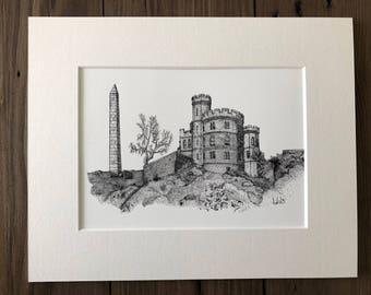 Edinburgh Sketch - Governor's House on Calton Hill
