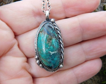 South West Inspired Turquoise and Sterling Silver Necklace
