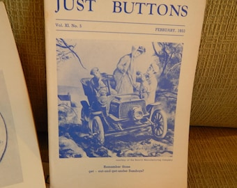 Just Buttons Magazine - 1953 - Missing May