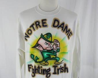 Vintage 90s Notre Dame Fighting Irish Crew Neck size XL College