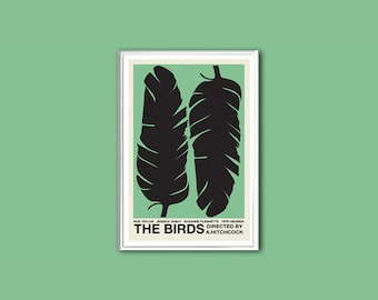 The Birds Hitchcock movie poster in various sizes