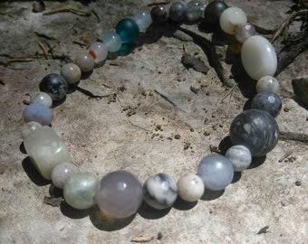 Great Gray's Semi-Precious Gemstone bracelet...