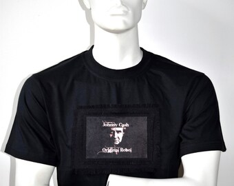 Johnny Cash Shirt, Custom Music T-Shirts, Alternative Rock Tees, Man in Black T Shirt
