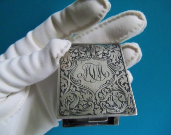 Antique Sterling Silver Match Safe A.R.T. Mfg Co. New York - 1910