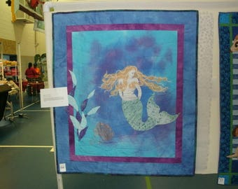 Mermaid Quilted Wall Hanging