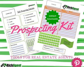 Prospecting for Real Estate Kit | Real Estate Form | Realtor Form | Real Estate Agents | Realtors | Real Estate Marketing | Realtor Planner
