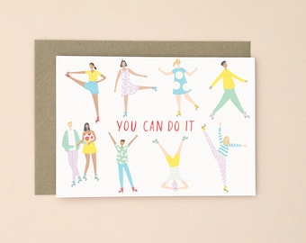 Illustrated You Can Do It Card