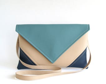Navy Cross Body Bag Small Cross Body Bag Vegan Leather Crossbody Bag Vegan Crossbody Purse Simple Crossbody Purse Vegan Bag Navy Handbags