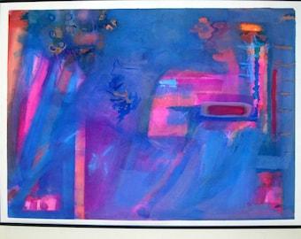 Paradigm Shift, mixed media on watercolor paper.