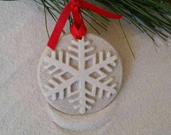SNOWFLAKE Made of Sand Ornament