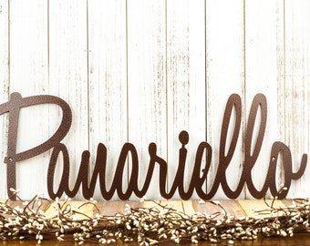 Metal Name Sign | Name Sign | Metal Sign | Family Name Sign | Custom Name Sign | Personalized Sign | Last Name Sign | Custom